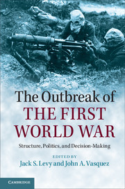 The Outbreak of the First World War, published by Cambridge