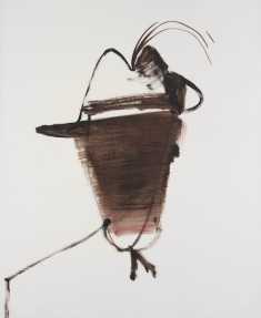 Soldier in plumed hat 15 November 1961 by Sidney Nolan (1917–1992) Textile dye on coated paper On loan courtesy of the Australian War Memorial ART91392
